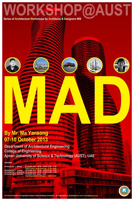 Workshop by Ma Yansong (MAD Architects) at Ajman University