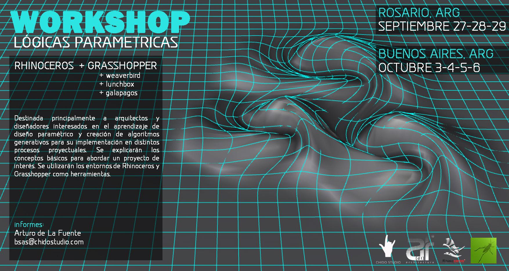 Workshop Lógicas Parametricas Buenos Aires / Chido Studio [¡Sorteamos un Cupo!]