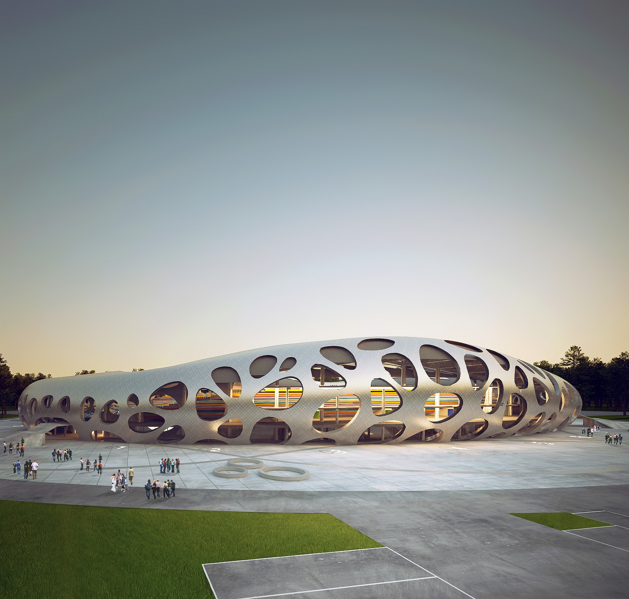 Borisov Football Stadium / OFIS Architects, Courtesy of OFIS Architects