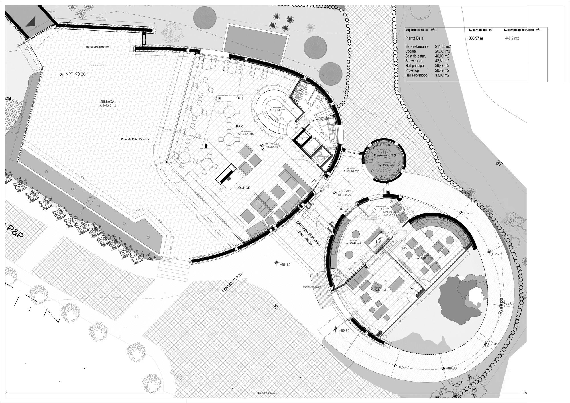 Gallery of Golf Club House La Graiera / BC Estudio ... on fitness center plans, nightclub design plans, conference room plans, parking plans, security plans, putting green plans, boat ramp plans, tree fort plans, trellis design plans,