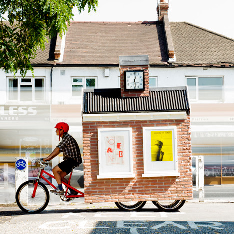 Public Space Popping Up in London's Suburbs, A Mobile town square designed for Cricklewood, by Studio Harto and Studio Kieren Jones. Image Courtesy of http://cricklewoodtownsquare.com/