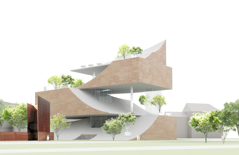 Sou Fujimoto Designs New Wing for Germany's Kunsthalle Bielefeld, First Proposal: Stacked Landscape. Image © Sou Fujimoto Architects