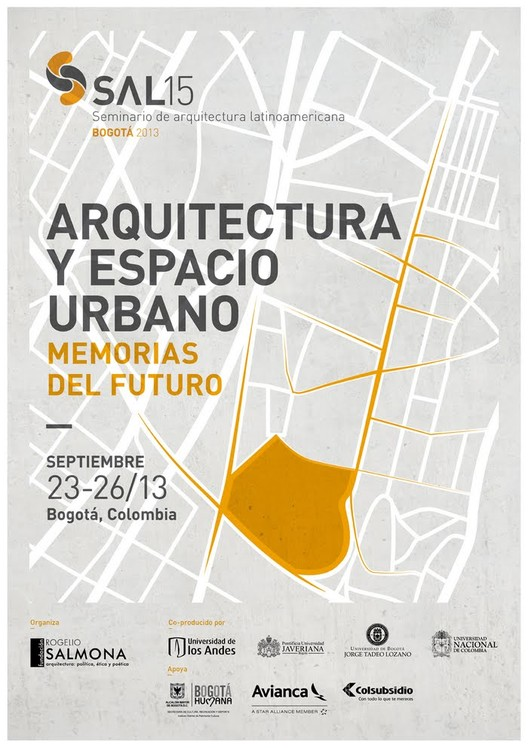 "Seminário de Arquitetura Latinoamericana ""Arquitectura y espacio urbano: Memorias del futuro"" em Bogotá, Colômbia"