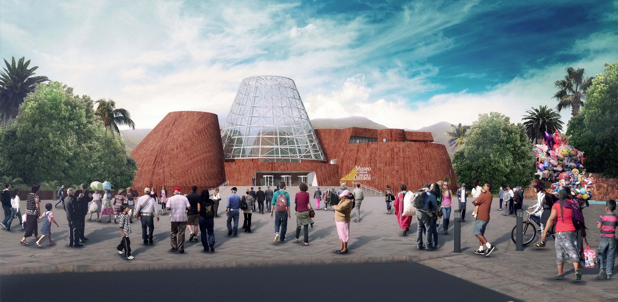 Proyecto para el Museo de Historia Natural de Oaxaca , Acceso. Image © Equipo Primer Lugar
