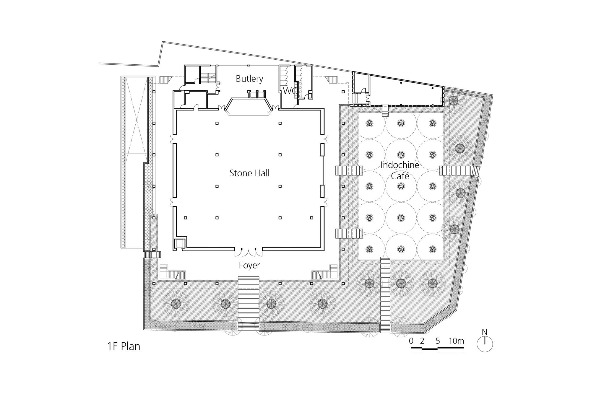 Gallery of kontum indochine wedding hall vtn architects 18 for Banquet hall floor plans