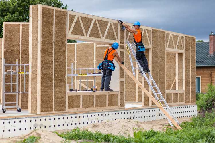 Finalistas criam nova geração de materiais construtivos sustentáveis, Sistema de Painéis de Palha entre os finalistas. Cortesia de Ecococon via Cradle to Cradle