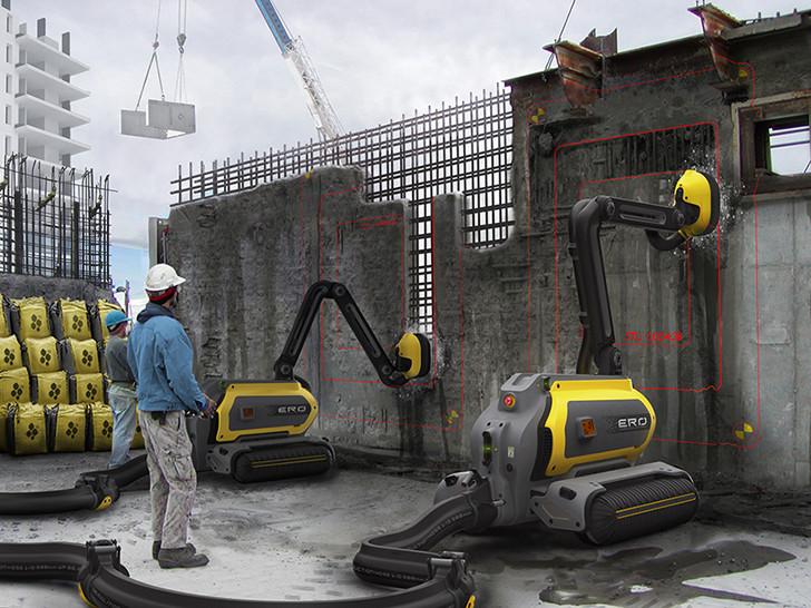 """Robot que """"come"""" hormigón borra literalmente los edificios sin generar residuos, © Omer Haciomeroglu"""