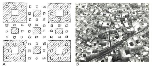 The fractal pattern of self-organizing urbanism. Image © Nikos Salingaros