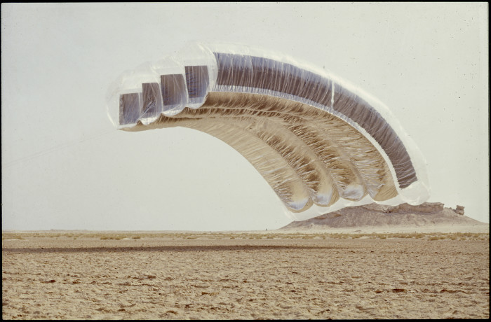 "Exhibition: Far-out Voices, ""Desert Cloud"", 1972, Courtesy Graham Stevens. Photo © Archive photographique FRAC Centre, Orléans"