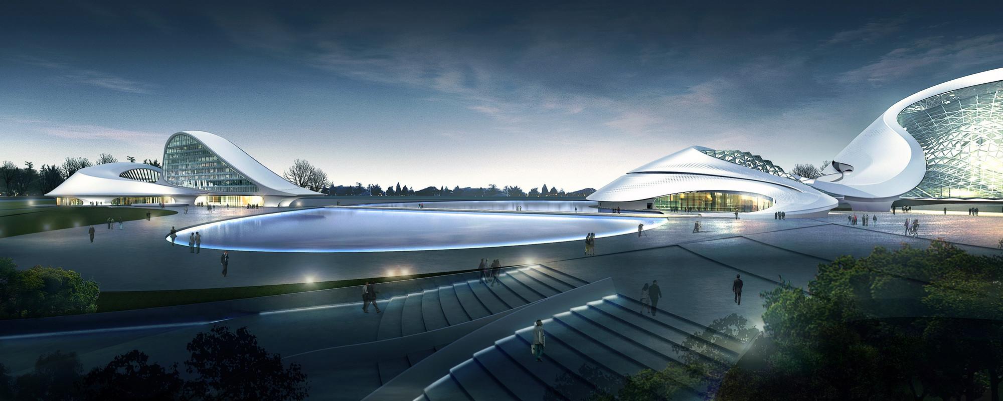 5238c543e8e44e24570001dd_harbin Cultural Center Mad Architects_08_mad_harbin_culture_island_exterior_rendering Jpg on Modern House Architecture Design
