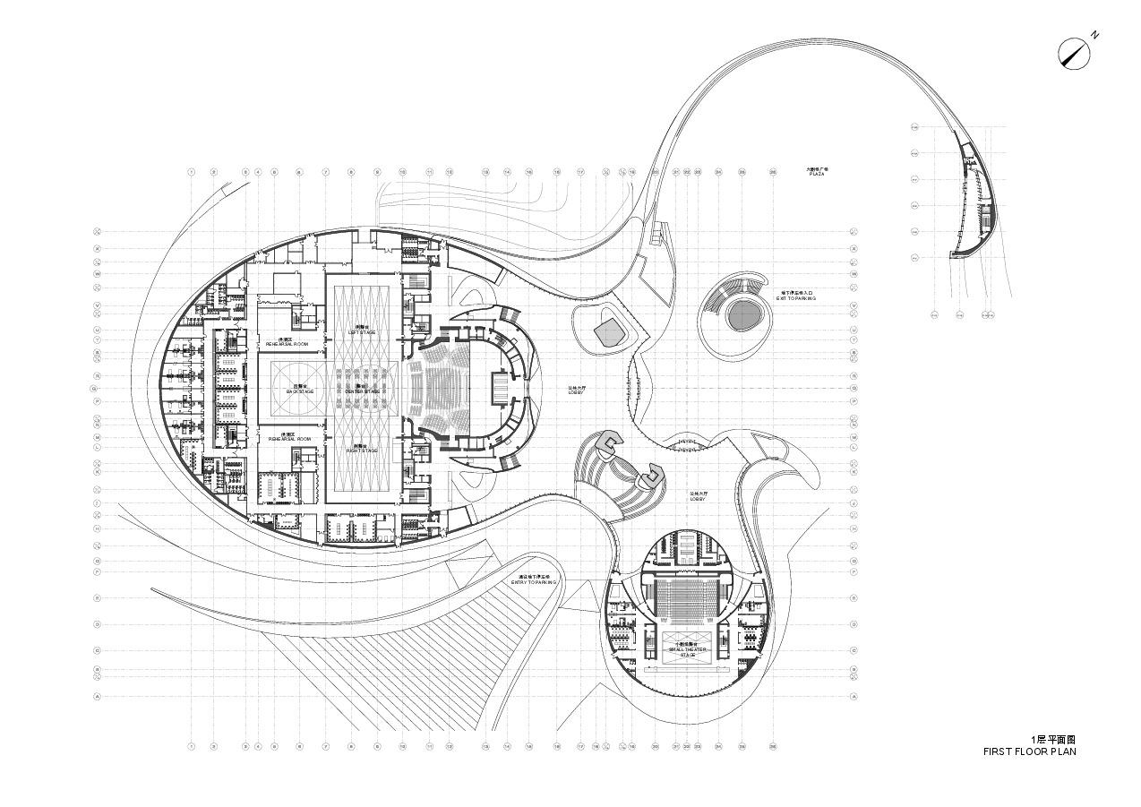 5238cda1e8e44eeea100020a Harbin Cultural Center Mad Architects  on Grand Design Floor Plan