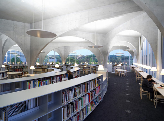 Tama Art University Library (Hachioji Campus) / Courtesy Ishiguro Photographic Institute