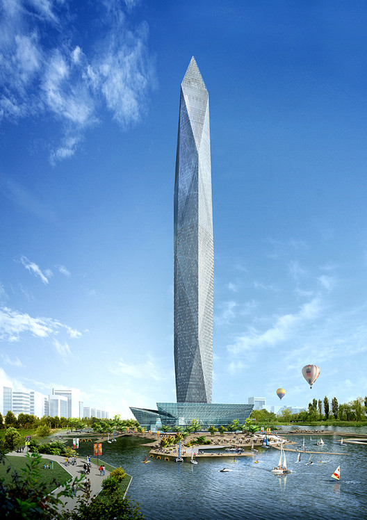 Invisible Skyscraper Unveiled for Seoul, Infinity Tower / GDS Architects. Image Courtesy of fastcodesign.com