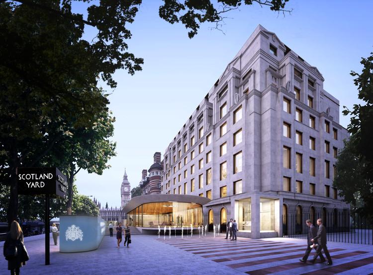 Divulgada a lista com os finalistas para a nova sede da Scotland Yard, Allford Hall Monaghan Morris. Cortesia de Greater London Authority (GLA)