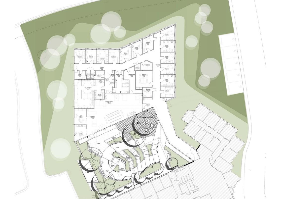 Cancer Center Floor Plan Gallery Of Belmont Community Rehabilitation Centre