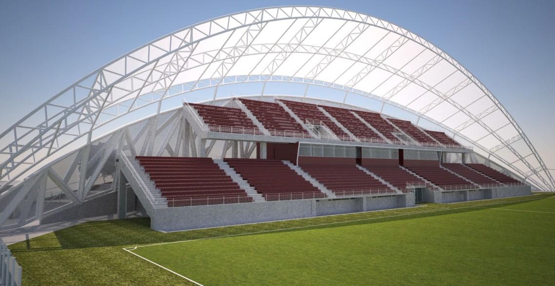Estadio nicol s chahu n desaf os de una estructura de for Cubiertas para techos livianas