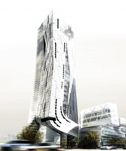 Four Towers in One (Competition) Shenzen. Image © Morphosis
