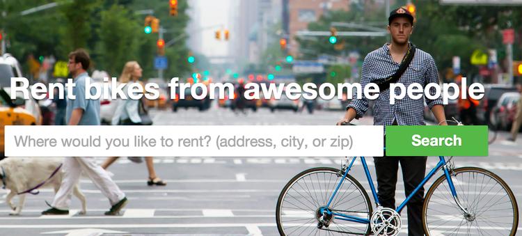 """""""Spinlister"""": um serviço de empréstimo de bicicletas em mais de 40 países, Cortesia de spinlister.com"""