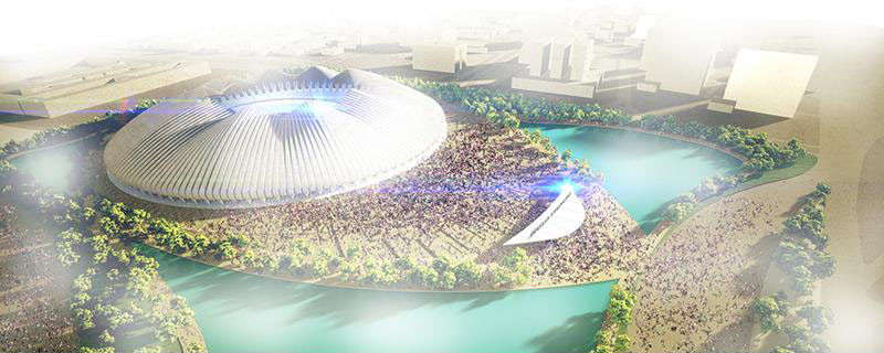 Weston Williamson Wins Brasilia Stadium Competition with Responsive Arena, Courtesy of bdonline, via Weston Williamson
