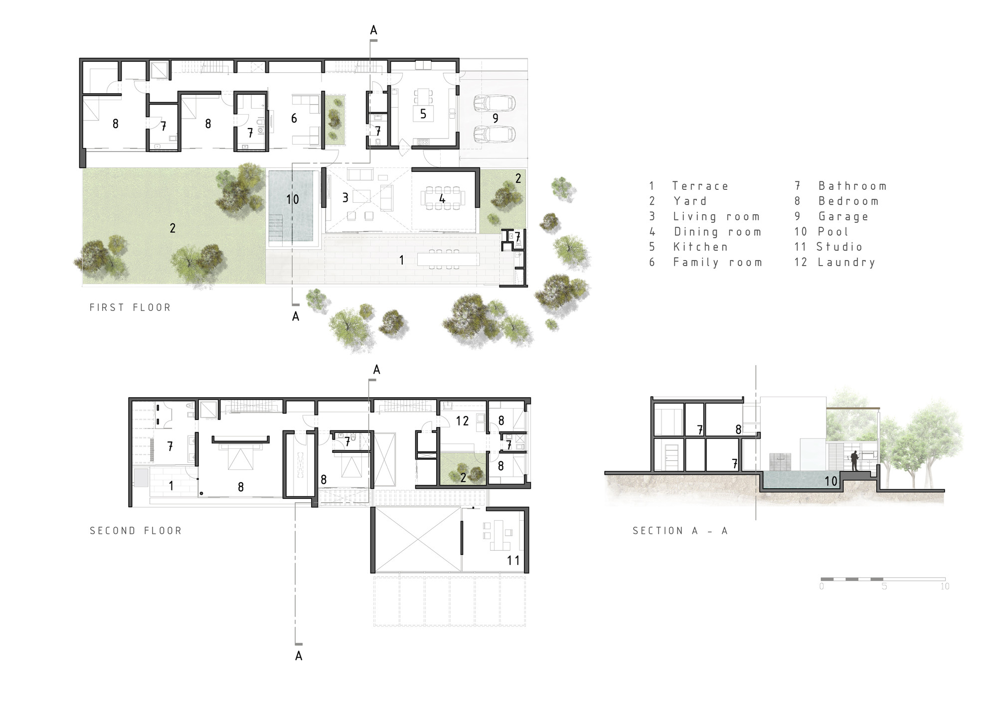 Cachalotes house oscar gonzalez moix archdaily for Planos arquitectonicos de casas