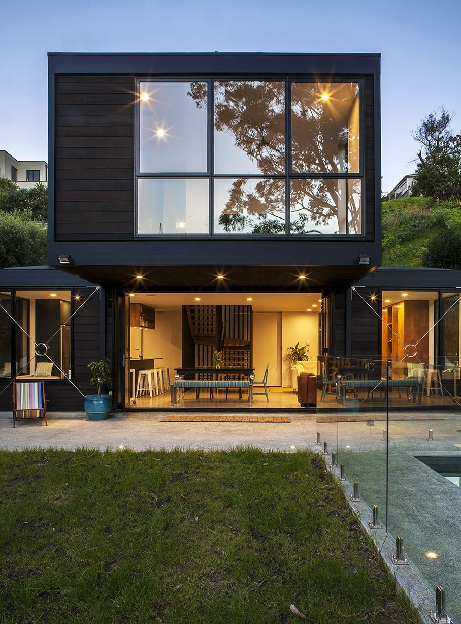 Bassett road box living archdaily for Casa moderna rd