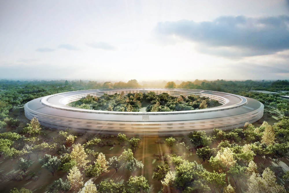 "If Skyscrapers Predict Crises, What Do ""Donuts"" Tell Us? , Apple HQ (USA). Image © Foster + Partners, ARUP, Kier + Wright, Apple"