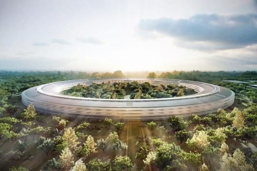 Apple HQ (USA). Image © Foster + Partners, ARUP, Kier + Wright, Apple