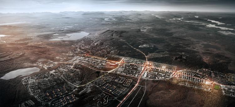 Kiruna, na Suécia, terá seu centro inteiramente relocado, Plano 'Kiruna 4-Ever'. Cortesia de White