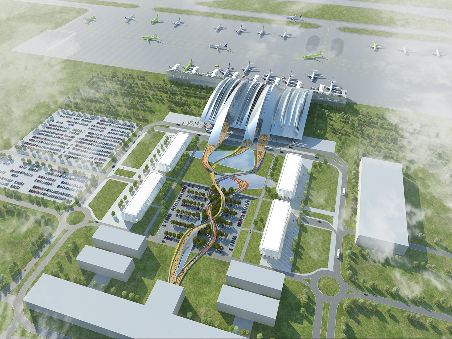 Twelve Architects to Design Airport in Russia for 2018 World Cup