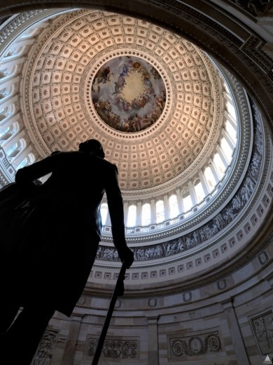 How Will the Shutdown Affect Architects? , Capitol Rotunda. Image Courtesy of Architect of the Capitol