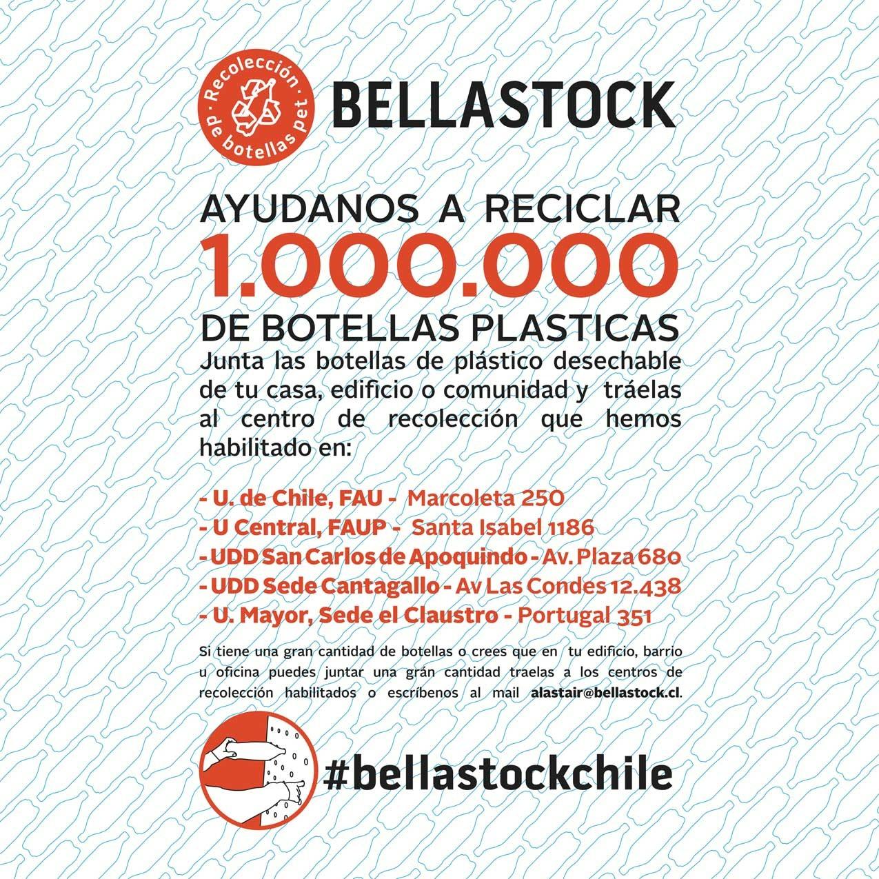 ¡Bellastock Chile ha iniciado el Proceso de Recolección de botellas para el Primer Festival de Reciclaje en Chile! , Courtesy of Bellastock