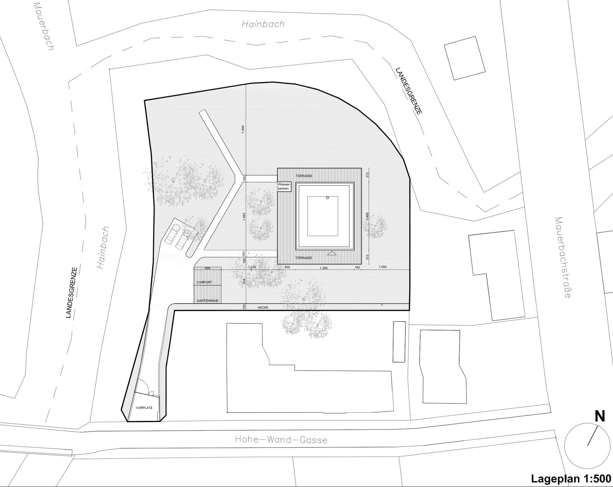 Haus Hainbach / MOOSMANN. 13 / 18. Site Plan