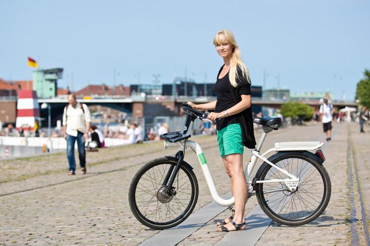"""""""GoBike"""": Tablets nas bicicletas públicas de Copenhague, Dinamarca, Cortesia de bikocity.com"""