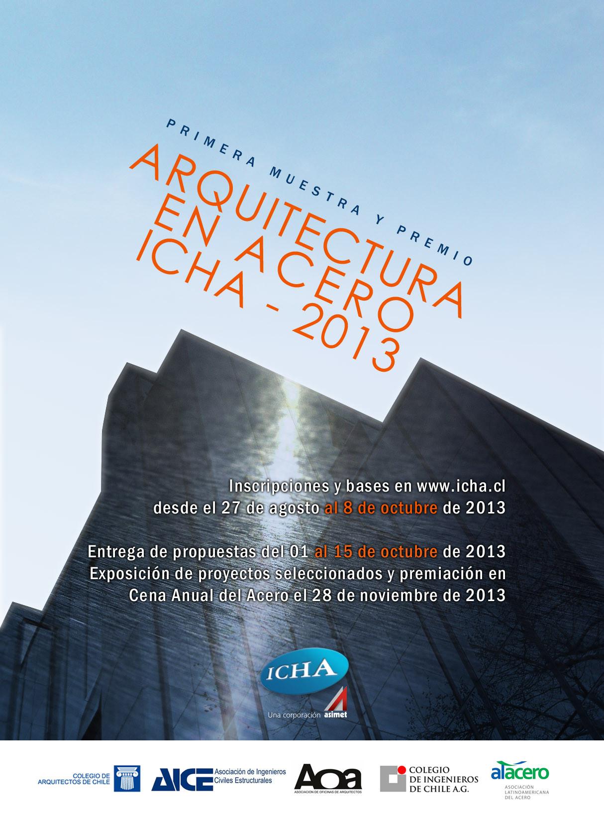 Convocatoria para muestra arquitectónica de obras construidas en acero / ICHA