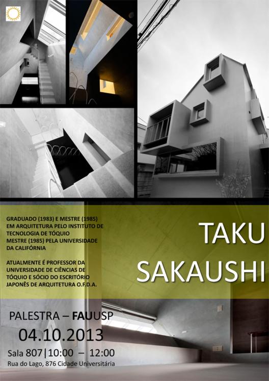 Palestra com Taku Sakaushi na FAUUSP