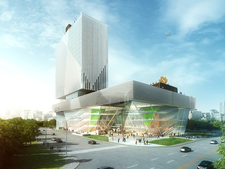 """Arquitetos americanos vencem competição internacional para """"Shopping Cultural"""" na China, Cortesia de  Joel Sanders Architect"""