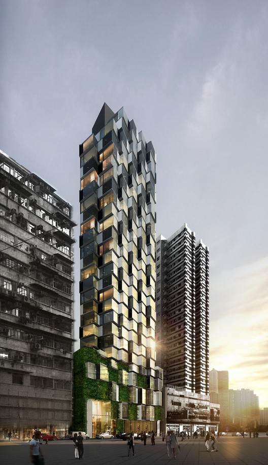 Edifício Composite / Aedas, Cortesia de Aedas