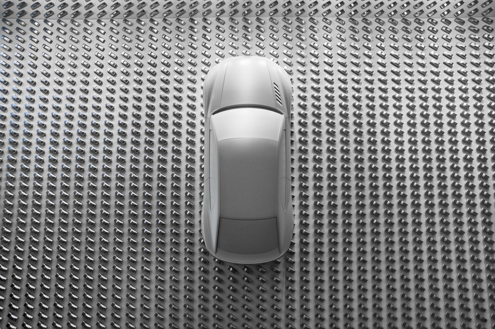 Audi design wall at the Pinakothek der Moderne, © Audi