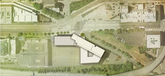 Tacoma Art Museum Expansion Site Plan. Image © Olson Kundig Architects