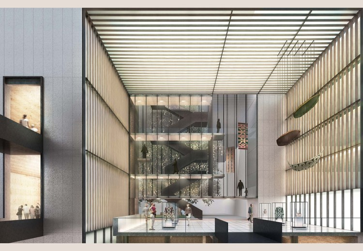 Primeiro Lugar no concurso para o anexo do Museu Histórico Nacional do Chile, Cortesia de Aguiló + Pedraza arquitectos