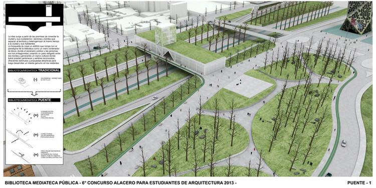 """Resultado do """"VI Concurso Alacero 2013"""" de projeto em aço para estudantes de arquitetura , Primeiro Lugar  Prancha 1"""