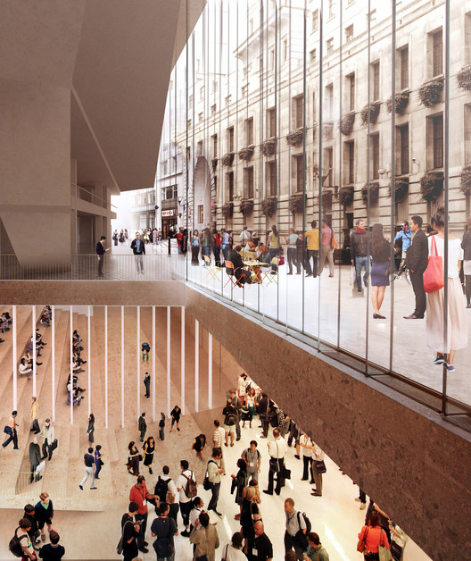 Shortlist Announced for LSE Global Centre for Social Sciences , Team C. Image Courtesy of LSA / RIBA