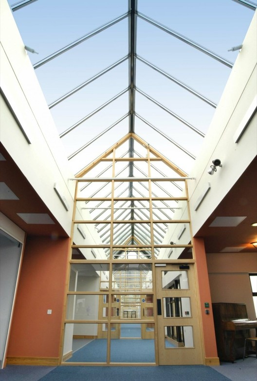 """An Interview with Magda Mostafa: Pioneer in Autism Design, """"New Struan Centre for Autism in Alloa, Scotland, designed by Aitken Turnbull, consists of a glass atrium that floods the space in brilliant sunlight"""". Image © Wardell Armstrong"""