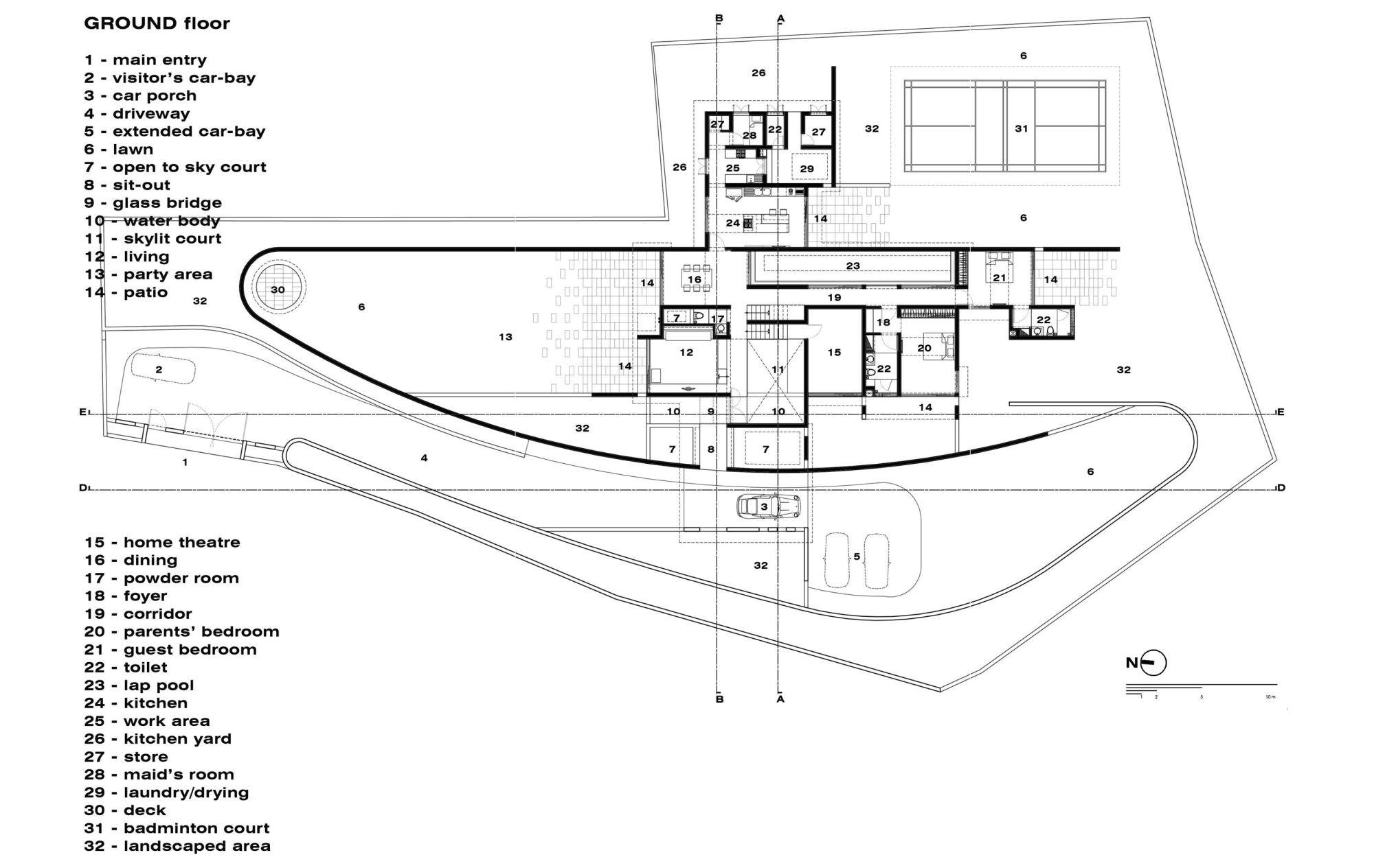 Gallery Of The Running Wall Residence / LIJO RENY