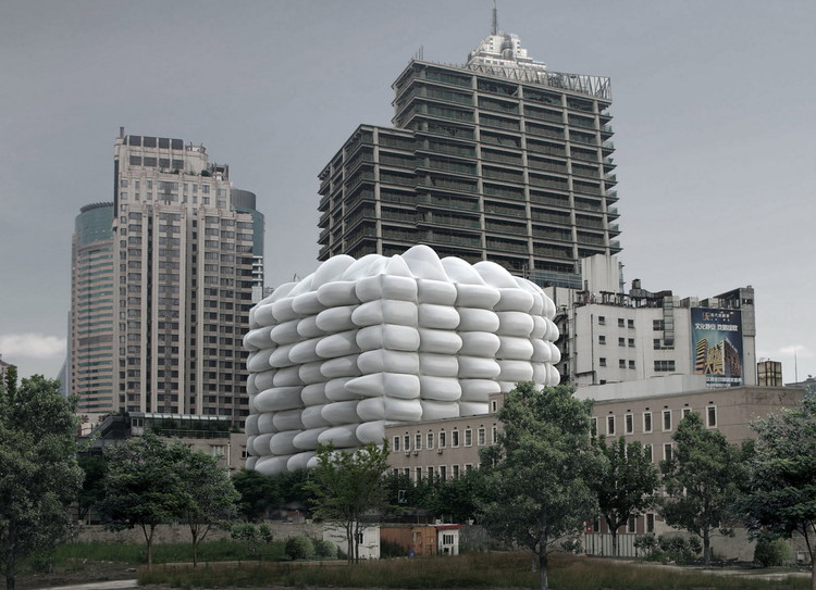 Bubble Building / 3GATTI Architecture Studio, Vista do entorno. Imagem Cortesia de 3GATTI