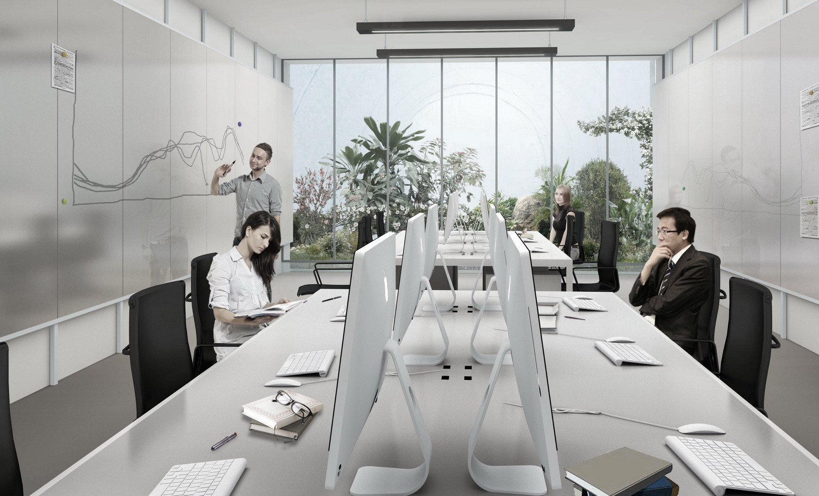 architecture office interior. Bubble Building,Office Interior View. Image Courtesy Of 3GATTI Architecture Office