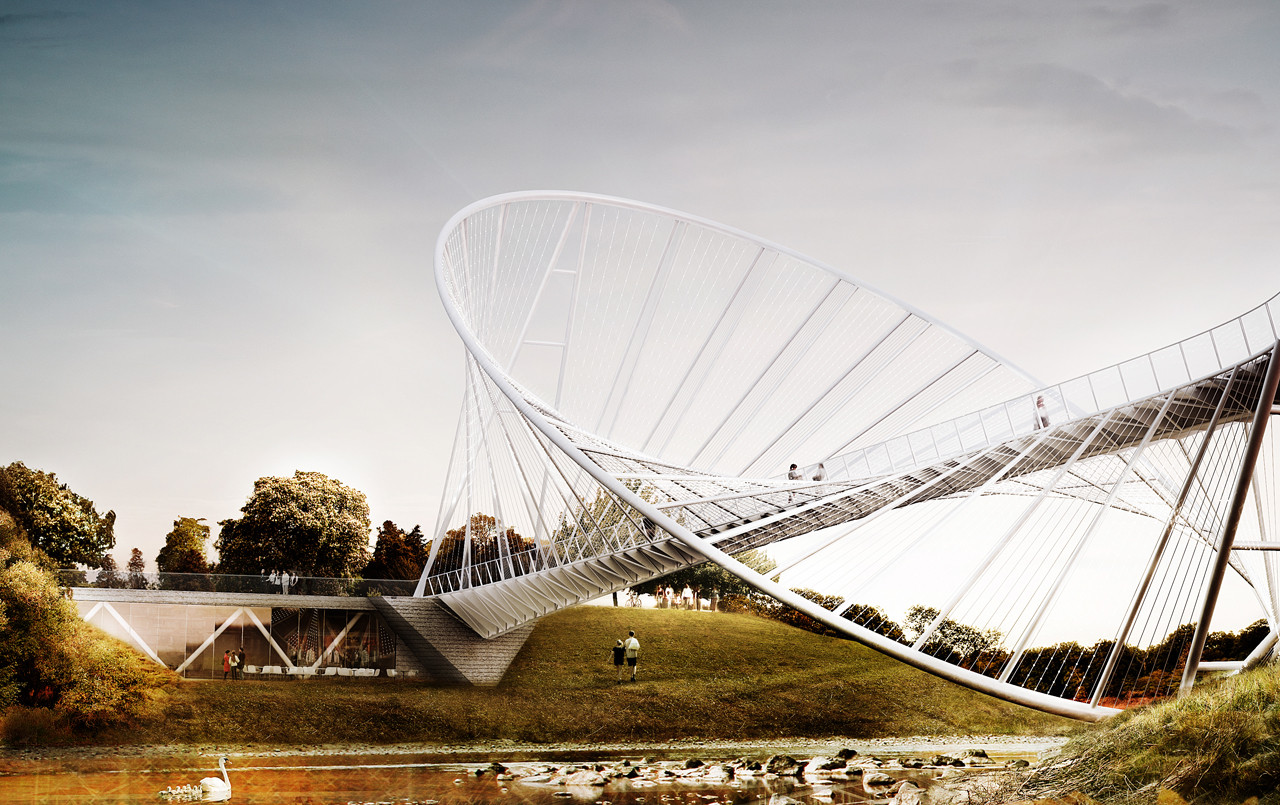 Elliptical Bridge Proposal / Penda, Courtesy of Chris Precht and Alex Daxböck