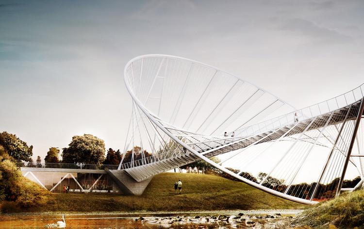 Proposta de uma ponte elíptica / Penda, Cortesia de  Chris Precht e Alex Daxböck