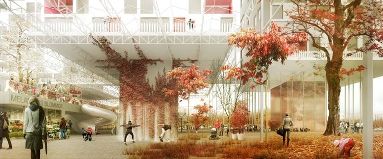 SeARCH vence competição para renovação urbana em Estocolmo, Cortesia de SeARCH