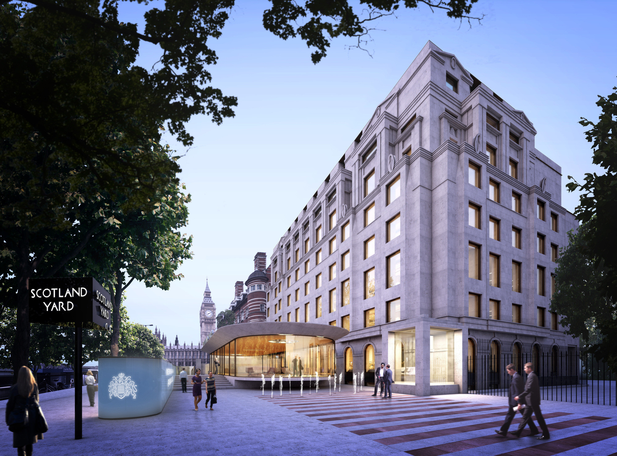 AHMM to Design London's New Metropolitan Police HQ, Winning Design (Allford Hall Monaghan Morris). Image Courtesy of Greater London Authority (GLA)